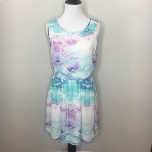 Forever 21 Watercolor Print Dress - Size: Medium